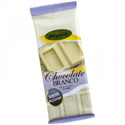 Sugar free white chocolate bar with 50grs
