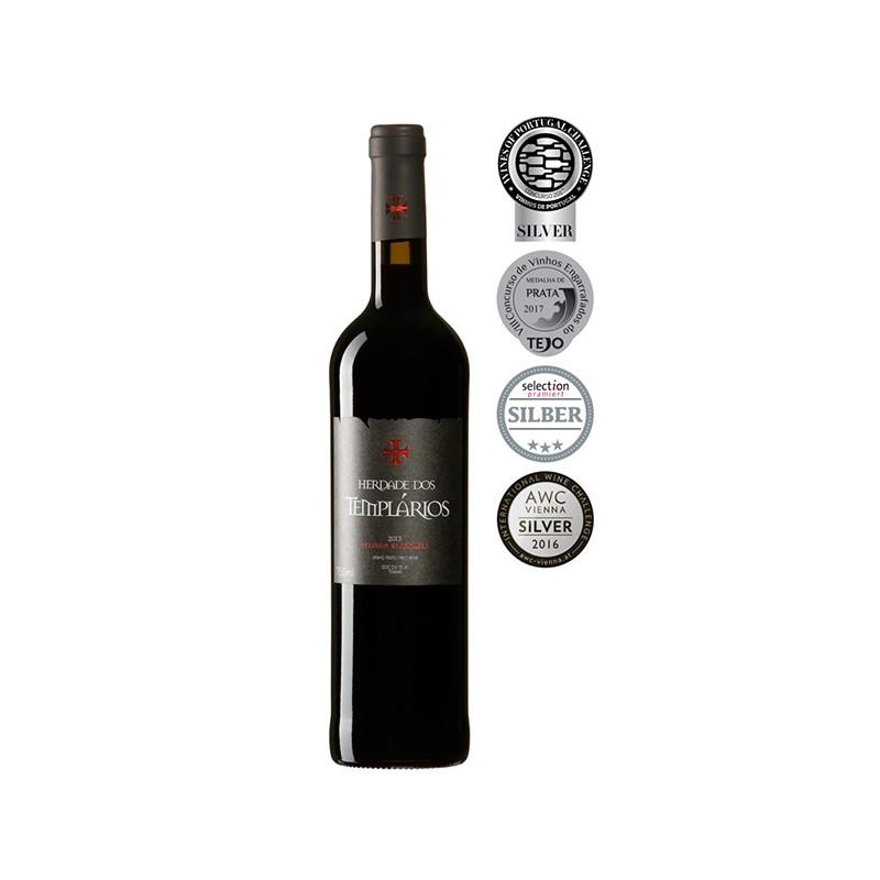 Red wine bottle Herdade dos Templarios