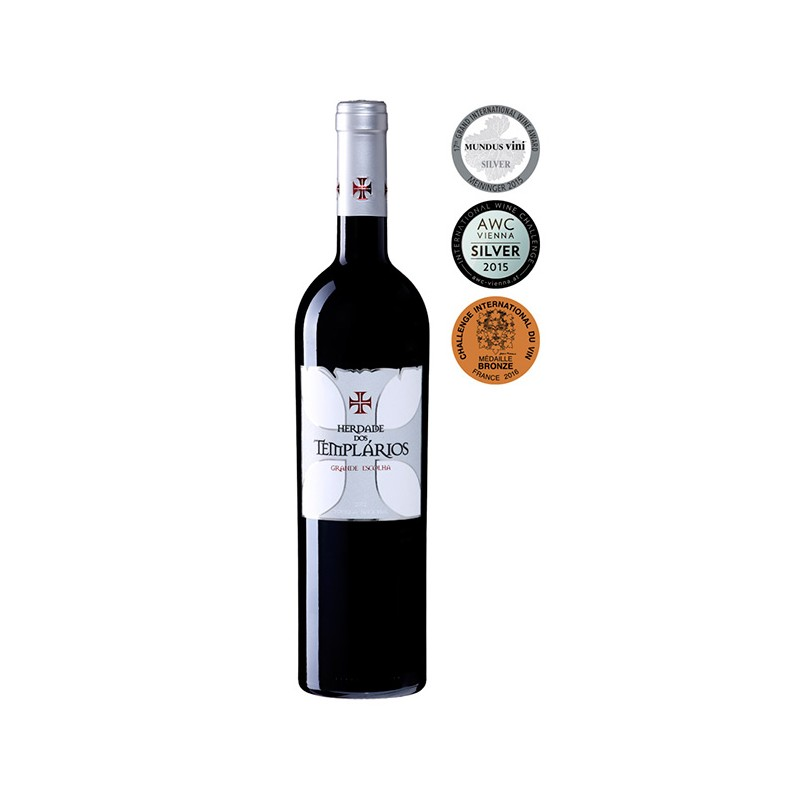 Red wine bottle Herdade dos Templarios Grande Escolha