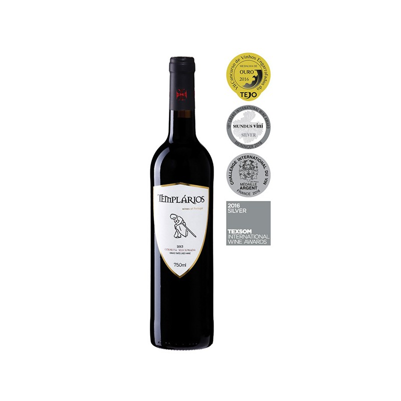 Red wine bottle Templarios Colheita Selecionada