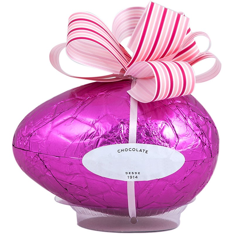 Easter chocolate egg with bow with 150grs.