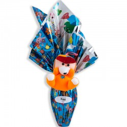 Easter chocolate egg bouquet 350grs with toy