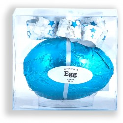 Easter chocolate egg with bow with 65grs. in box