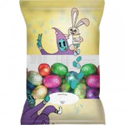 Easter small chocolate eggs in bag with 100grs
