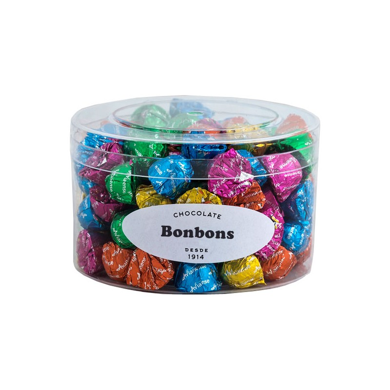 Small chocolate bonbons in box with 400grs.