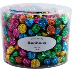 Small chocolate bonbons in transparent box 1,5 kg