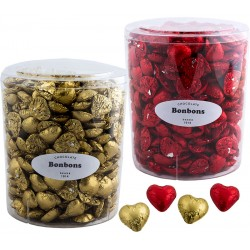 Heart shape chocolate bonbons in box with 2 kg