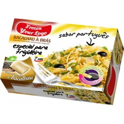 "Frozen Meal the Portuguese Style ""Bras"" Codfish box"