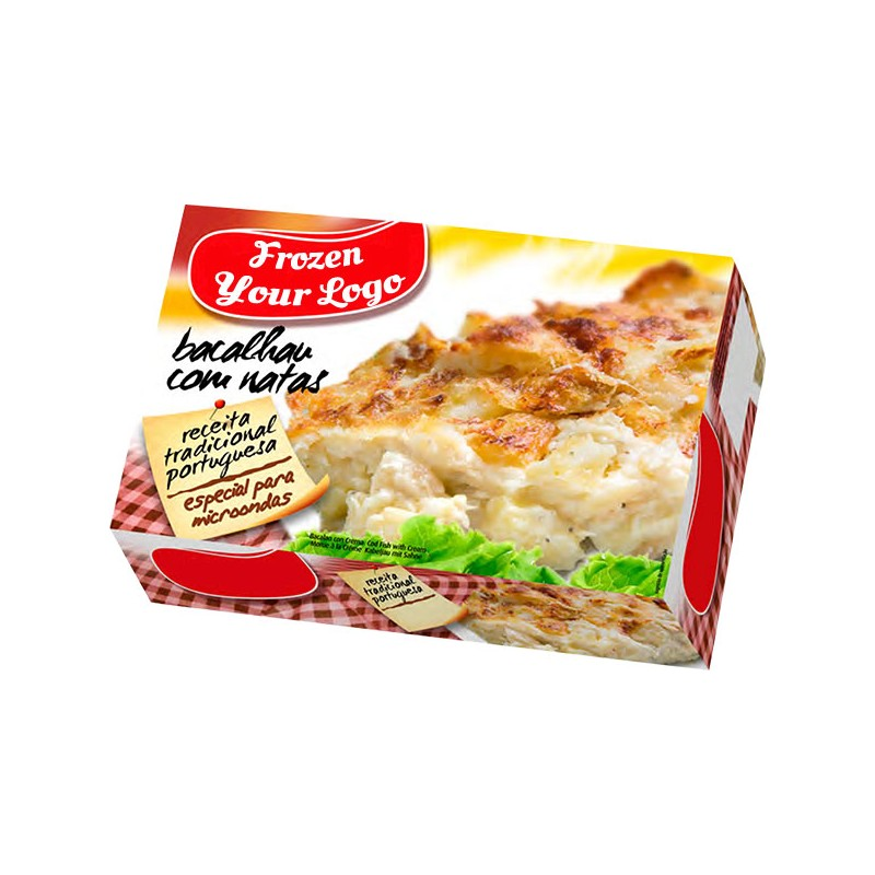 Frozen Meal Portuguese Codfish with Cream Box