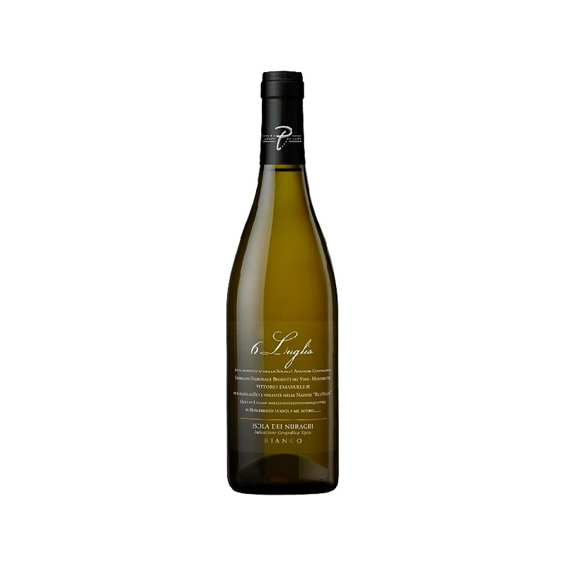 Italian white wine 6 Luglio Isola dei Nuraghi IGT