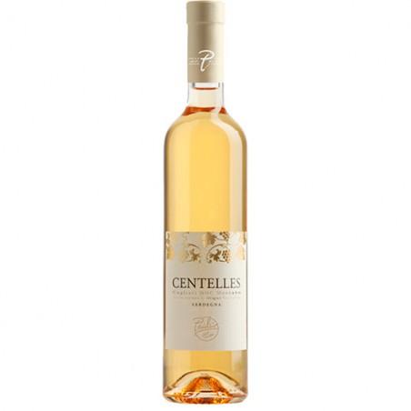 Italian sweet wine bottle Centelles Cagliari DOC Moscato