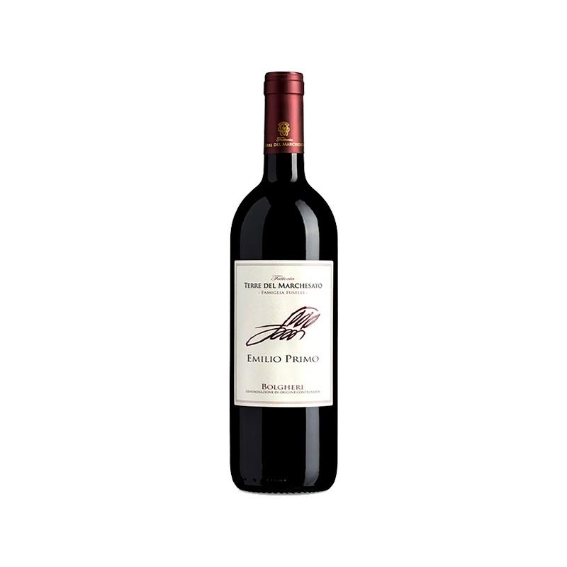 Red wine bottle Emilio Primo Rosso DOC Bolgheri Rosso
