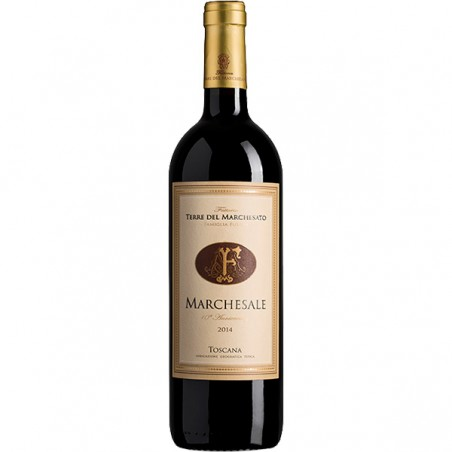 Red wine bottle Marchesale IGT Toscana Rosso Syrah Riserva
