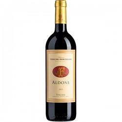 Red wine bottle Aldone IGT Toscana Rosso Merlot Riserva