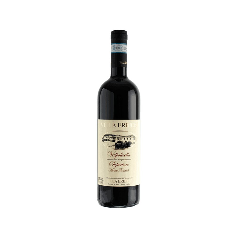 Italian red wine VALPOLICELLA SUPERIORE DOC MONTE TOMBOLE from Veneto