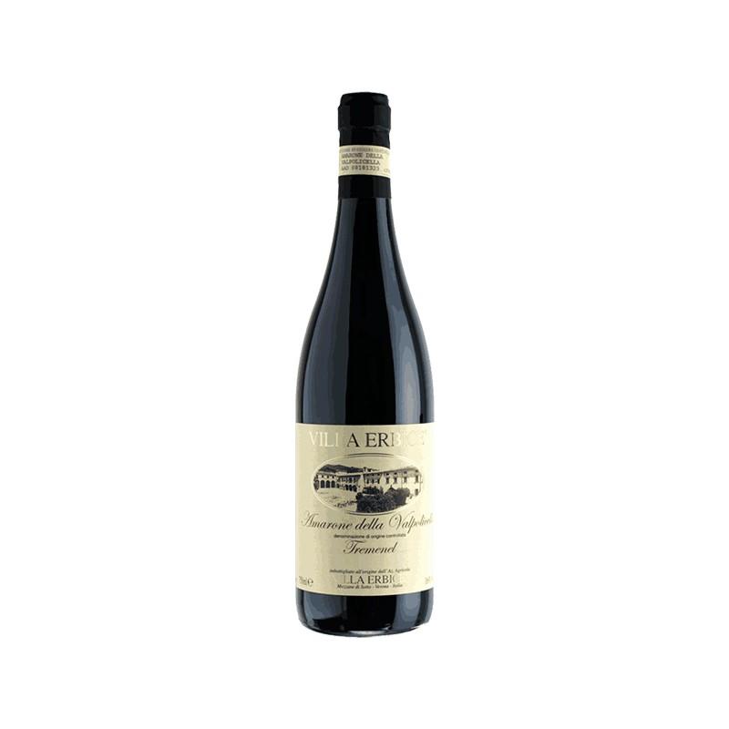 Italian red wine AMARONE DELLA VALPOLICELLA DOCG TREMENEL from Veneto region in Italy