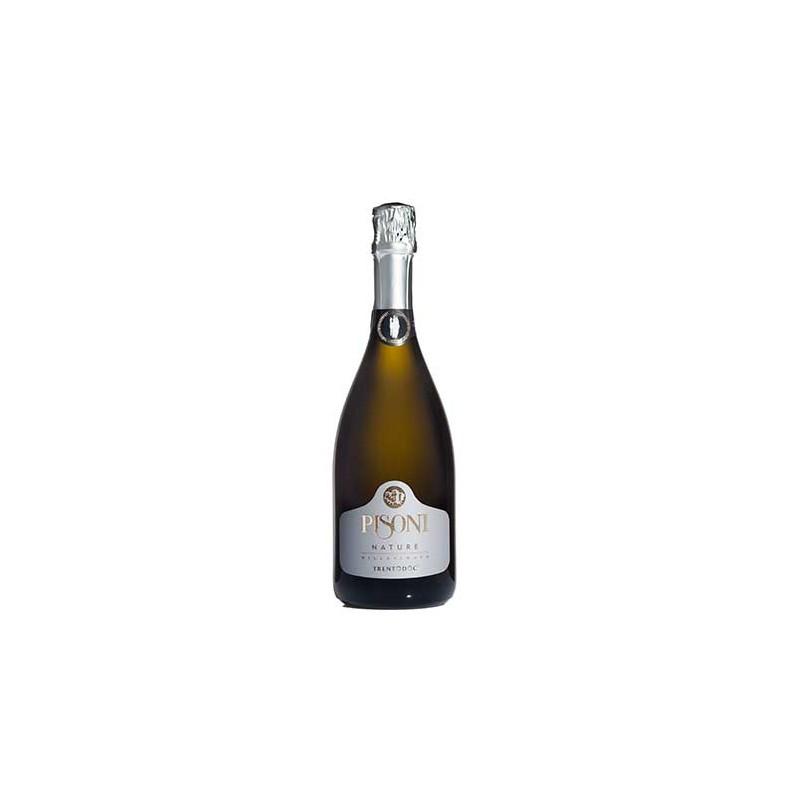 Italian sparkling white wine Millesimato Brut Nature TRENTODOC Spumante