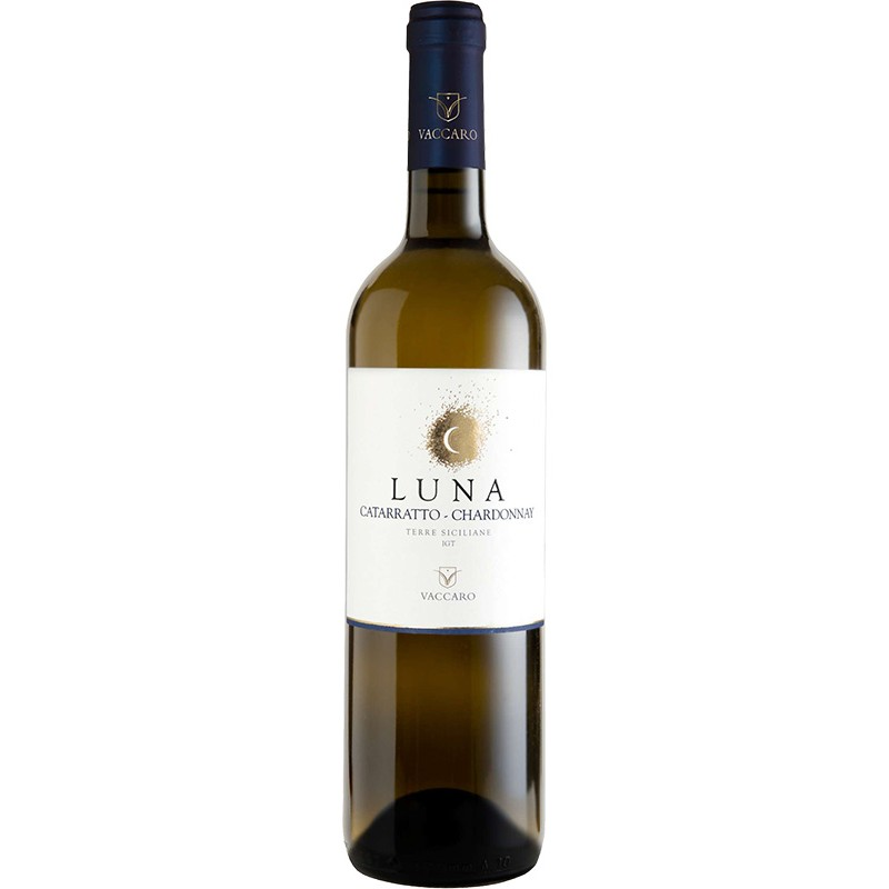 White wine bottle Luna Catarratto and Chardonnay