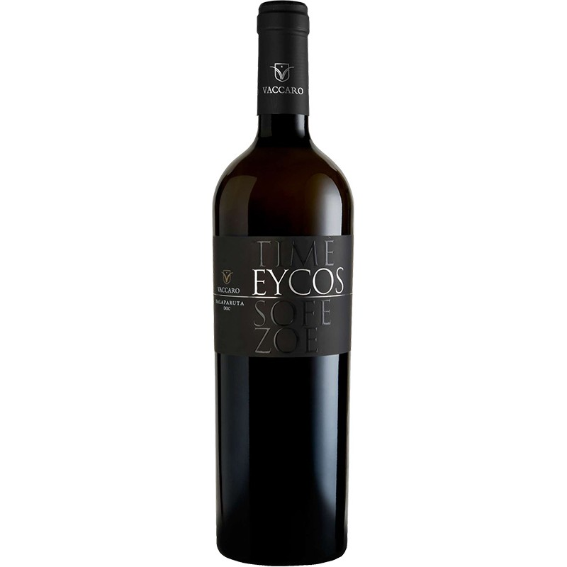 Italian white wine bottle Eycos