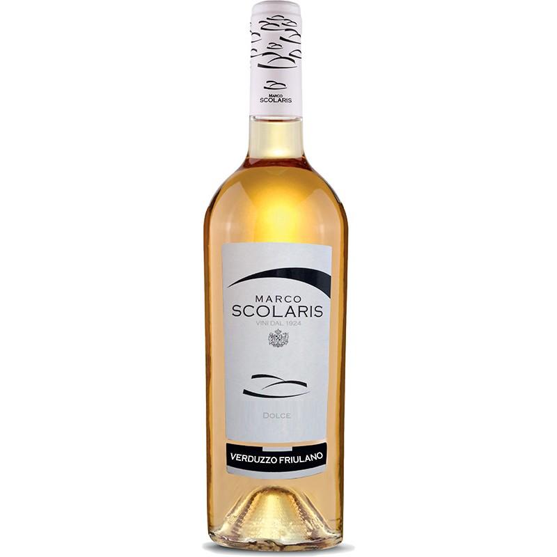 Dessert white wine bottle Verduzzo Friulano IGT Venezia Giulia