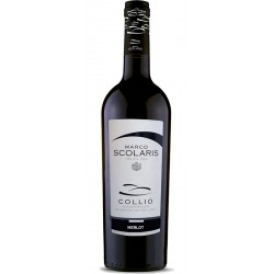 Red wine bottle Merlot DOC Collio