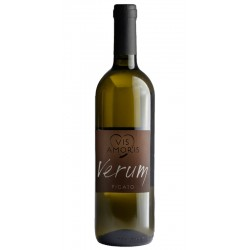 White wine bottle with Pigato Verum from the Liguria