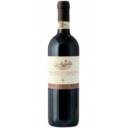 Red wine bottle Chianti Superiore DOCG from Tuscany