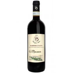 Red wine bottle BARBERA D`ASTI DOC Belmon from Piemonte