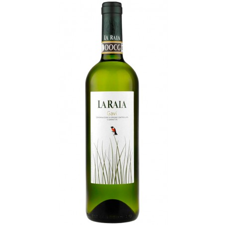 Italian white wine bottle Gavi DOCG Biodynamic Wine