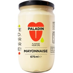 Mayonnaise 675ml in glass in English