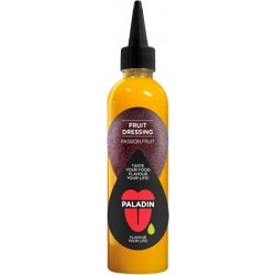 Fruit dressing with Passion Fruit bottle in English