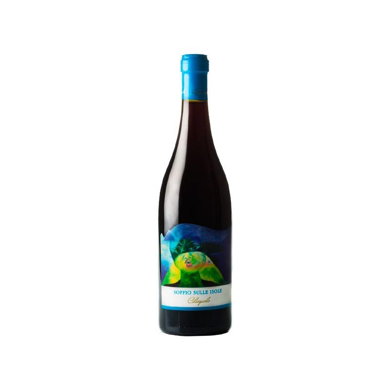 Italian red wine Soffio Sulle Isole - Ciliegiolo made in Vulcano, with 75cl
