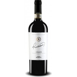 Red wine bottle Rossetti Chianti DOCG from tuscany