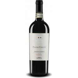 Italian red wine bottle Poggio Civeta one Chianti Classico DOCG Riserva from tuscany