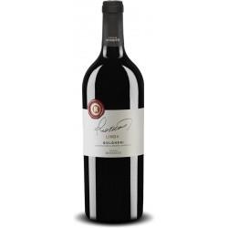 Italian red wine bottle from tuscany Linda Bolgheri DOC