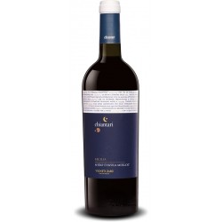 Italian red wine from sicily Chiantari - Nero D'Avola - Merlot Sicilia DOP bottle