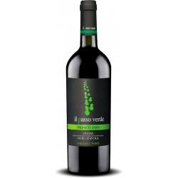 Italian red wine from the sicily Il Passo Verde with Nero d'Avola Sicilia DOP Organic Wine bottle