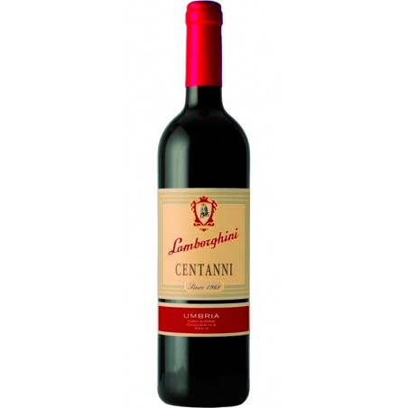 Red wine bottle Centanni IGT