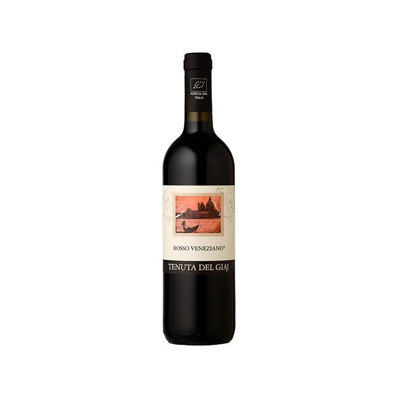 Italian red wine Rosso veneziano IGT Veneto Orientale BIO bottle