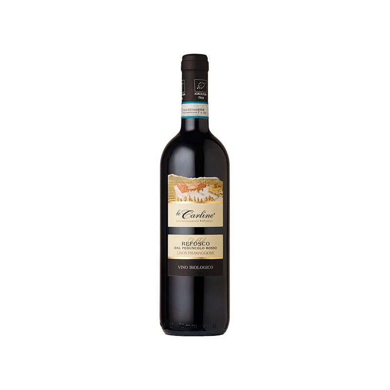 Italian red wine Refosco dal peduncolo rosso DOC Lison Pramaggiore BIO and Vegan