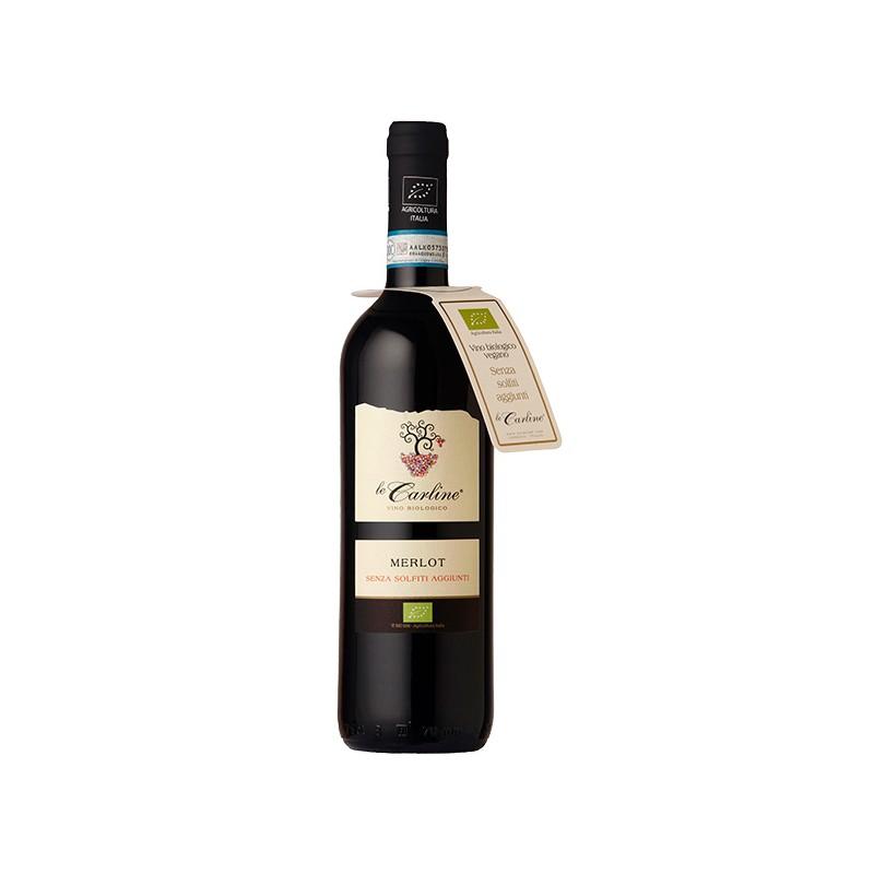 Italian wine Merlot DOC Lison Pramaggiore BIO without sulphites bottle