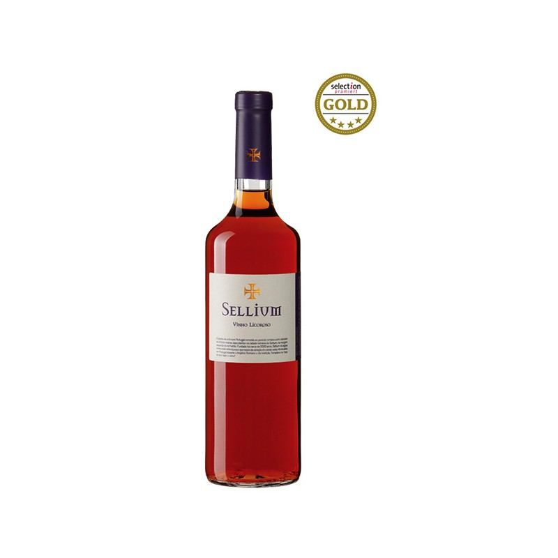 Portuguese fortified wine Sellium bottle