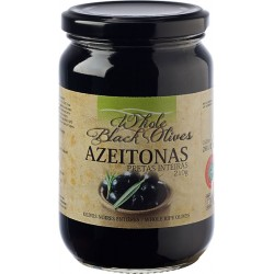 Whole Black Olives in Glass Jar
