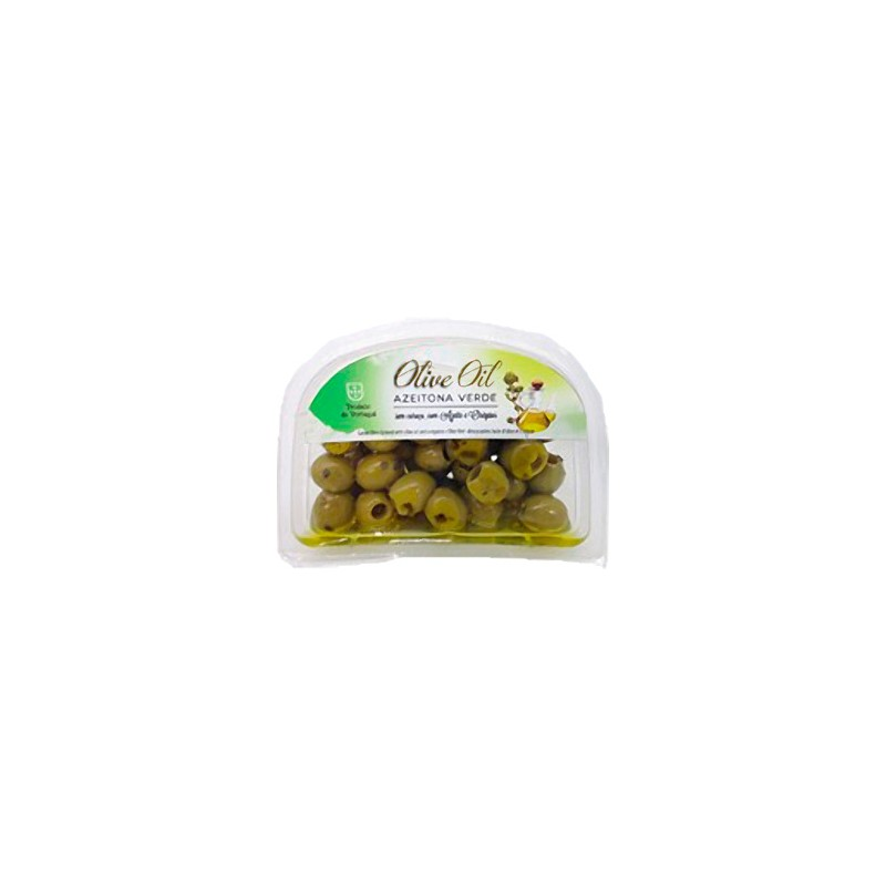 Green Olives with Oregano and Olive Oil 120gr in plastic cuvette